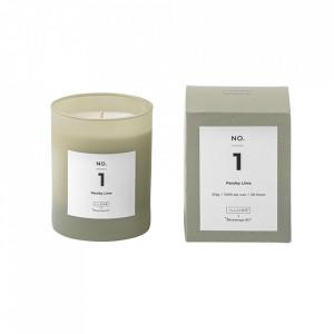 Lumanare parfumata din sticla 10 cm Parsley Lime Illume x Bloomingville