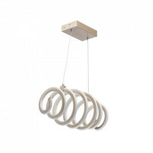 Lustra alba/aurie din metal si silicon cu LED DeMarkt Spiral MW Glasberg