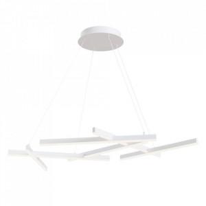 Lustra alba din metal cu LED Line Pendant White Maytoni