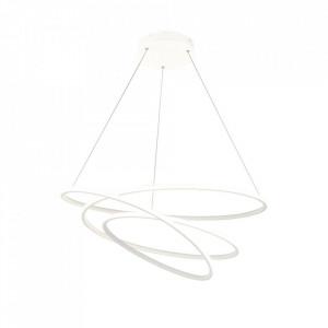 Lustra alba din metal cu LED Nola Pendant Rings Maytoni