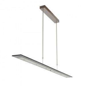Lustra argintie/gri din metal si sticla Plato Style Steinhauer