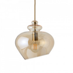 Lustra bej sampanie din sticla Grace Large Frandsen Lighting