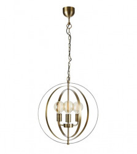 Lustra maro bronz din metal cu 3 becuri Orbit Markslojd