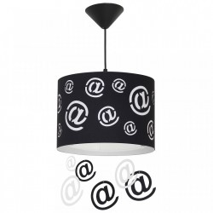 Lustra neagra/alba din metal si plastic Mail Pendants Aldex