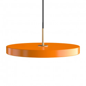 Lustra portocalie/aurie din otel si aluminiu Asteria Umage