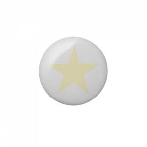 Maner alb/galben din ceramica Star Bloomingville Mini