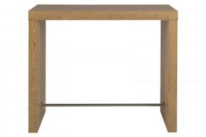Masa bar maro/argintie din lemn si metal 60x130 cm Block Table Oak Actona Company