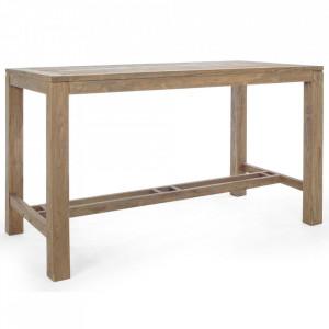 Masa bar maro din lemn de tec 80x180 cm Maricruz Bizzotto