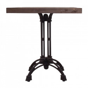 Masa bar maro/neagra din lemn si fier 70x70 cm Thiers Vical Home