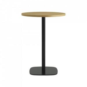 Masa bar neagra/maro din lemn si otel 70 cm Form Normann Copenhagen