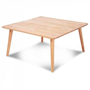 Masa cafea patrata din lemn stejar 80x80 cm Curve Opjet Paris