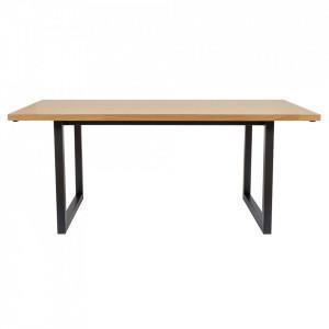 Masa dining din PAL si lemn 90x180 cm Camden Woodman