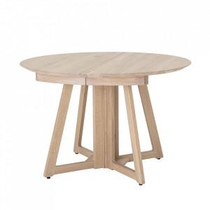 Masa dining extensibila maro din lemn de stejar 118 cm Owen Bloomingville
