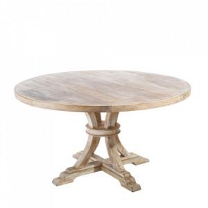 Masa dining maro/alba din lemn de mango 150 cm Elik Denzzo