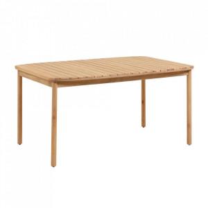 Masa dining maro din lemn de eucalipt pentru exterior 90x160 cm Sheryl La Forma