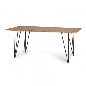 Masa dining maro din lemn de salcam si metal 100x200 cm Riva Giner y Colomer