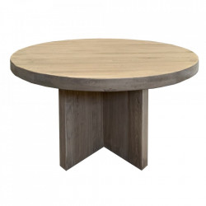 Masa dining maro din lemn de ulm 120 cm Manis Denzzo