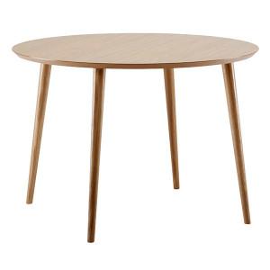 Masa dining maro din MDF si lemn 100 cm Cloyd Woodman
