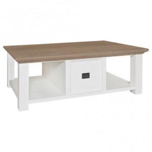 Masa maro/alba din lemn si MDF pentru cafea 80x130 cm Oakdale Richmond Interiors