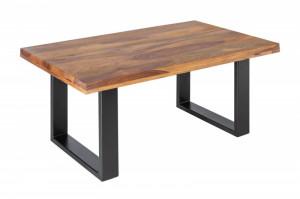 Masa maro/neagra din lemn si fier pentru cafea 60x100 cm Gustavo Grande Invicta Interior