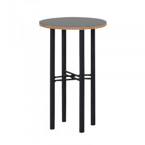 Masa neagra din placaj si metal 40 cm Pento Custom Form