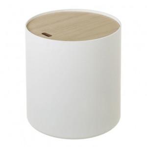 Masuta alba/maro din MDF si lemn 38,5 cm Freddie Unimasa