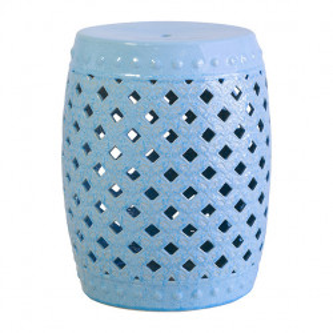 Masuta albastra din ceramica 33 cm Vanessa Santiago Pons