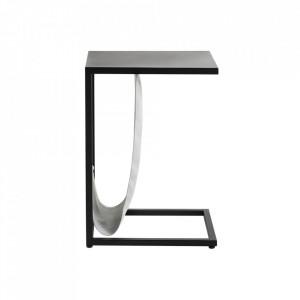 Masuta cu suport pentru reviste neagra din metal 30x40 cm Lupe Custom Form