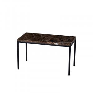 Masuta maro din marmura si metal pentru cafea 30x60 cm Thorben Lifestyle Home Collection