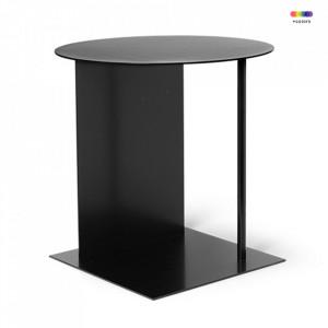 Masuta neagra din metal 39,5x39,5 cm Place Black Ferm Living