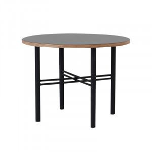 Masuta neagra din placaj si metal pentru cafea 60 cm Pento Custom Form