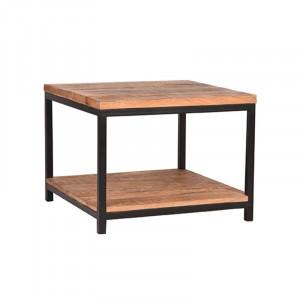 Masuta neagra/maro din lemn si metal 60x60 cm Ali Vintage LABEL51