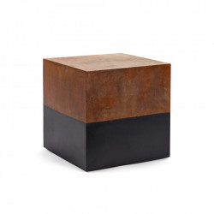 Masuta neagra/maro ruginiu din metal 40x40 cm Bicubo Serax