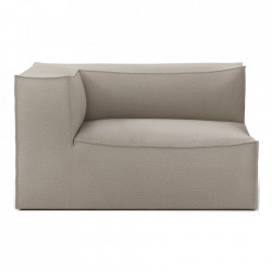 Modul canapea bej din bumbac si in 138 cm Catena Armrest Left Natural Ferm Living