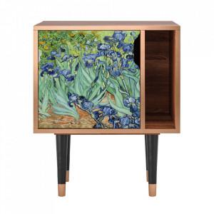 Noptiera multicolora din MDF si lemn Irises By Vincent Van Gogh Furny