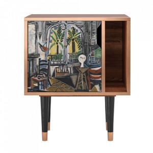 Noptiera multicolora din MDF si lemn The Studio By Pablo Picasso Furny