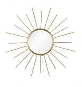 Oglinda aurie cu LED-uri decorative din metal 80 cm Blossom Markslojd