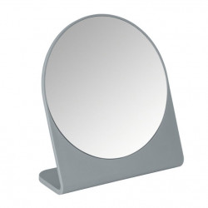 Oglinda cosmetica de masa rotunda gri din polistiren 17,5x19 cm Marcon Wenko