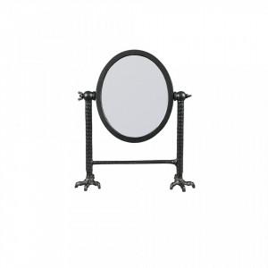 Oglinda cosmetica din metal negru Falcon Dutchbone