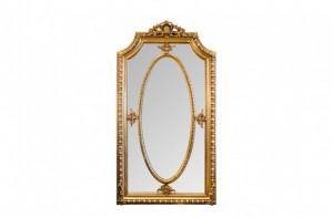 Oglinda dreptunghiulara aurie cu rama din lemn 118x207 cm Baroque Versmissen