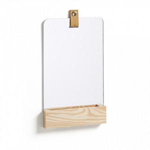 Oglinda dreptunghiulara cu suport din lemn 38 cm Lummi La Forma