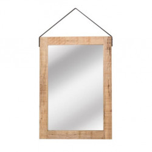 Oglinda dreptunghiulara maro din lemn 60x85 cm Carla LABEL51
