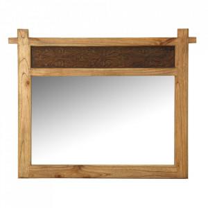 Oglinda dreptunghiulara maro din lemn 90x114 cm Paris Vical Home