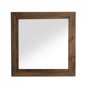 Oglinda patrata maro din lemn 140x140 cm Cliff Vical Home