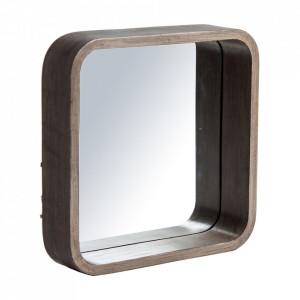 Oglinda patrata maro din lemn 62x62 cm Kalva Vical Home