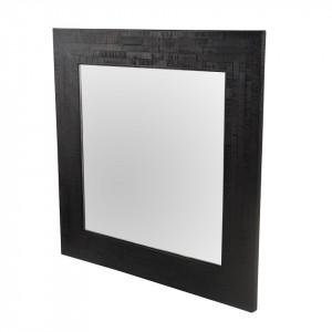 Oglinda patrata neagra din lemn 70x70 cm Moody Zago