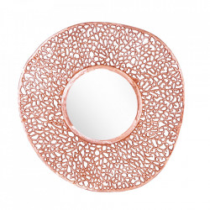 Oglinda rotunda aramie din metal 112 cm Leaf Invicta Interior