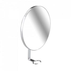 Oglinda rotunda argintie din inox 17x23 cm Turbo-Loc Anti-Fog Wenko