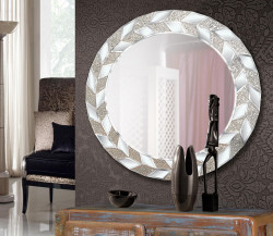 Oglinda rotunda argintie din sticla 80 cm Cyos Giner y Colomer