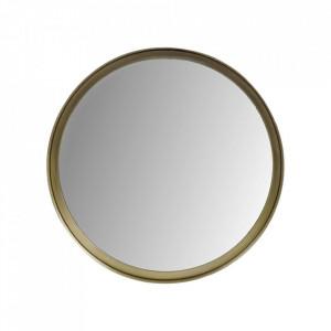 Oglinda rotunda aurie din aluminiu si fier 40 cm Fletcher HSM Collection